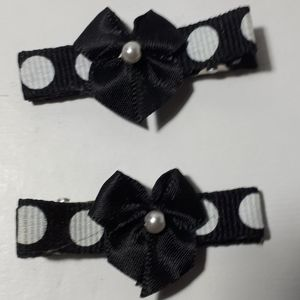 Other - Handmade Kiddie Clips - Black Bows